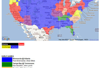 NFL TV Schedule Week 12: Coverage Maps for All CBS and Fox NFL ... Kansas City Chiefs Map on map history, map sam houston state university, map nfl, map university of phoenix stadium,
