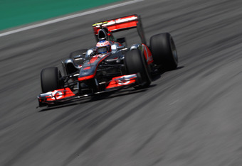 SAO PAULO, BRAZIL - NOVEMBER 26:  Jenson Button of Great Britain and McLaren drives during the final practice session prior to qualifying for the Brazilian Formula One Grand Prix at the Autodromo Jose Carlos Pace on November 26, 2011 in Sao Paulo, Brazil.