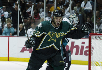 Muller as a forward for the Dallas Stars.