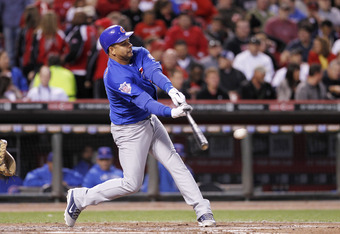 CINCINNATI, OH - SEPTEMBER 15: Aramis Ramirez #16 of the Chicago Cubs singles in the third inning against the Cincinnati Reds at Great American Ball Park on September 15, 2011 in Cincinnati, Ohio. (Photo by Joe Robbins/Getty Images)
