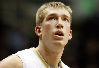 WEST LAFAYETTE, IN - JANUARY 12:  Robbie Hummel #4 of the Purdue Boilermakers looks on during the Big Ten game against the Ohio State Buckeyes at Mackey Arena on January 12, 2010 in West Lafayette, Indiana. Ohio State won 70-66.  (Photo by Andy Lyons/Gett