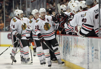 Patrick Sharp delighted with a two goal weekend.