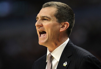 CHICAGO, IL - MARCH 18:  Head coach Mark Turgeon of the Texas A&M Aggies reacts in the second half of the game against the Florida State Seminoles during the second round of the 2011 NCAA men's basketball tournament at the United Center on March 18, 2011