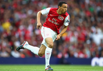 LONDON, ENGLAND - SEPTEMBER 10:  Francis Coquelin of Arsenal in action during the Barclays Premier League match between Arsenal and Swansea City at Emirates Stadium on September 10, 2011 in London, England.  (Photo by Clive Mason/Getty Images)