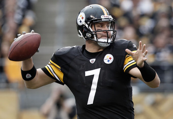 Ben Roethlisberger completed 15 of 23 passes for 176 yards and two touchdowns Sunday.