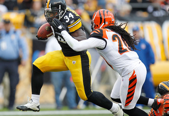 Rashard Mendenhall boosted the Steelers' red zone efficiency Sunday.