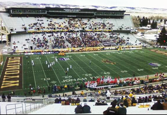 Light crowd on Wyoming's Senior Day (photo by Chance Kafka)