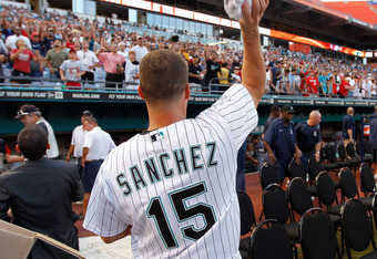If Pujols is in, Gaby Sanchez, a good player in his own right, is out.