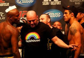 """Dana White's """"dickhouse"""" shirt demonstrates his and the UFC's laid back attitude."""