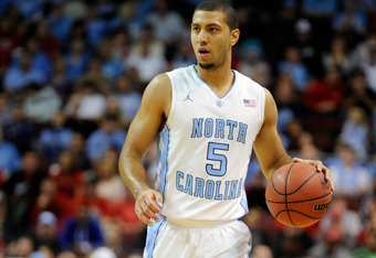 LAS VEGAS, NV - NOVEMBER 26:  Kendall Marshall #5 of the North Carolina Tar Heels brings the ball up the court against the UNLV Rebels during the championship game of the Continental Tire Las Vegas Invitational at the Orleans Arena November 26, 2011 in La