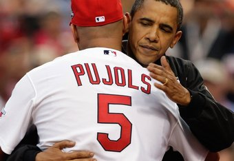 Pujols and President Obama at The 2009 All Star Game
