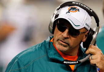 Miami Dolphins head coach Tony Sparano was the second head coach fired on Monday. He left Miami with a 29-32 overall record.
