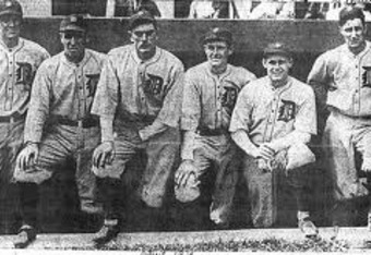 1923 Detroit Tigers pitching staff.