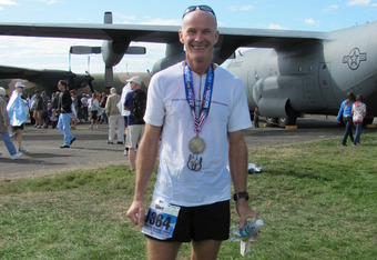 Harding after competing in the 2011 Airforce Marathon