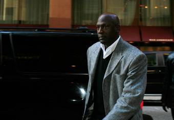NEW YORK, NY - NOVEMBER 05:  Charlotte Bobcats owner Michael Jordan arrives for NBA labor negotiations at Sheraton New York Hotel & Towers on November 5, 2011 in New York City. Players have been seeking 52.5 percent of revenues in their favor but owners w