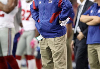 It's been eight years for Tom Coughlin and this frustrated look as overstayed its welcome.