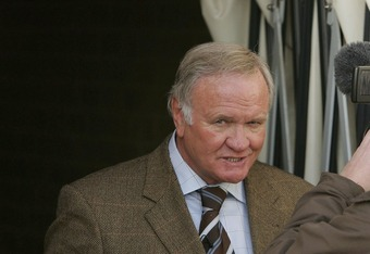KETTERING, UNITED KINGDOM - JANUARY 27:  New Director of Football at Kettering, Ron Atkinson is interviewed before the Nationwide Conference North match between Kettering Town and Droylsden at Rockingham Road on January 27, 2007 in Kettering, England.  (P