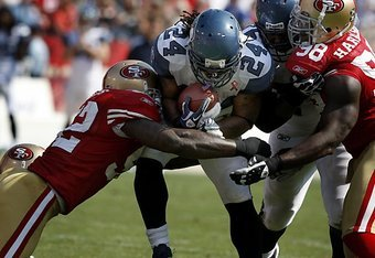 Marshawn not likely to beast against 49ers #1 ranked run defense.