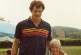 Former Bullets center Mitch Kupchak at a charity golf and tennis tournament in 1980. Photo by Mike Frandsen.