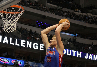 DALLAS - FEBRUARY 12:  Jonas Jerebko #33 of the Rookie team shoots against the Sophomore team during the second half of the T-Mobile Rookie Challenge & Youth Jam part of 2010 NBA All-Star Weekend at American Airlines Center on February 12, 2010 in Dallas,