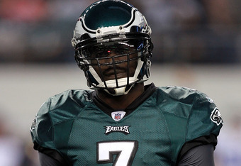 In his three seasons as an Eagle the team has failed to win a playoff game.