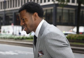 NEW YORK, NY - SEPTEMBER 30:  Andre Iguodala arrives to NBA labor negotiations at The Waldorf Astoria on September 30, 2011 in New York City.  (Photo by Michael Cohen/Getty Images)