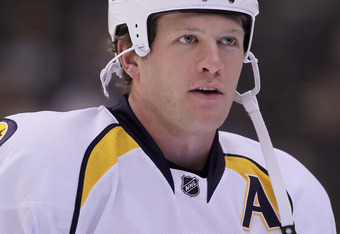 LOS ANGELES, CA - NOVEMBER 08:  Ryan Suter #20 of the Nashville Predators looks on prior to the start of the game against the Los Angeles Kings at Staples Center on November 8, 2011 in Los Angeles, California.  (Photo by Jeff Gross/Getty Images)