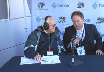 Army radio's Bob Outer with Mark Holtzman (K.Kraetzer)