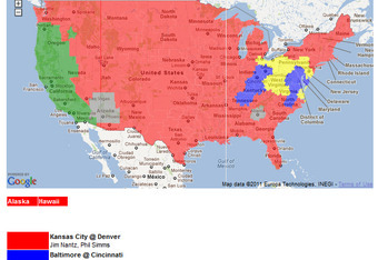 NFL TV Schedule Week 17: Coverage Maps for All CBS and Fox NFL ...