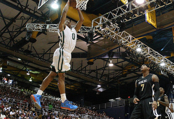 MIAMI, FL - OCTOBER 08:  Russell Westbrook dunks during the South Florida All Star Classic at Florida International University on October 8, 2011 in Miami, Florida.  (Photo by Mike Ehrmann/Getty Images)