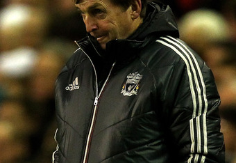 LIVERPOOL, ENGLAND - DECEMBER 30:  Liverpool Manager Kenny Dalglish looks on during the Barclays Premier League match between Liverpool and Newcastle United at Anfield on December 30, 2011 in Liverpool, England.  (Photo by Clive Brunskill/Getty Images)