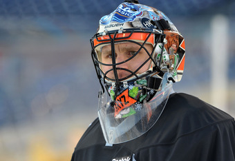 Bryzgalov commissioned a special mask honoring Philly Sports for the Classic