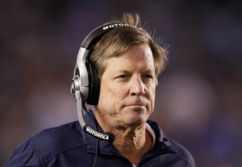 SAN DIEGO, CA - DECEMBER 18:  San Diego Chargers head coach Norv Turner looks on against the Baltimore Ravens at Qualcomm Stadium on December 18, 2011 in San Diego, California.  (Photo by Jeff Gross/Getty Images)