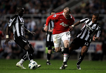 Tiote and Rooney, two players that had opposing fortunes in this match.