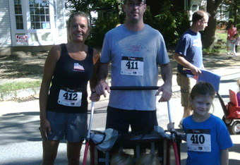 The Stapleton clan at the 2011 Reading Fall Faire 5K.