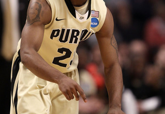 CHICAGO, IL - MARCH 20:  Lewis Jackson #23 of the Purdue Boilermakers drives against the Virginia Commonwealth Rams in the second half during the third round of the 2011 NCAA men's basketball tournament at the United Center on March 20, 2011 in Chicago, I