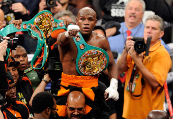 Mayweather after defeating Victor Ortiz in September 2011