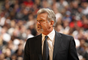 SACRAMENTO, CA - DECEMBER 29:  Head coach Paul Westphal of the Sacramento Kings stands by the bench during their game against the Chicago Bulls at Power Balance Pavilion on December 29, 2011 in Sacramento, California. NOTE TO USER: User expressly acknowle