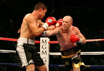 Matthew Hatton, right, in 2009 against Ernesto Zepeda
