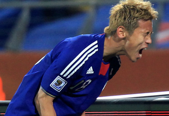 Honda scored one of the best goals at the 2010 World Cup