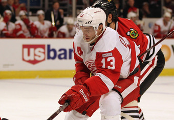 In 20 home games, Pavel Datsyuk has 23 points.