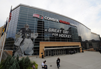 PITTSBURGH, PA - OCTOBER 11:  A general view of the CONSOL Energy Center before the opening game of the 2011 season for the Pittsburgh Penguins against the Florida Panthers on October 11, 2011 in Pittsburgh, Pennsylvania.  (Photo by Jamie Sabau/Getty Imag