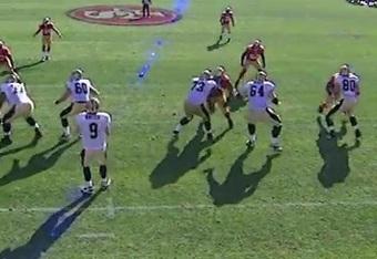 49ers defensive backs get physical vs Saints pass catchers.