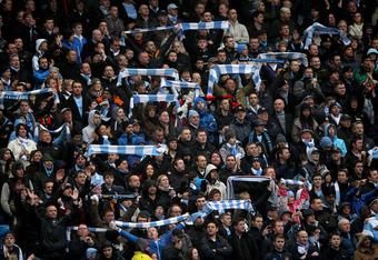 Exuberant Manchester City fans