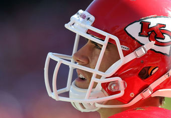 KANSAS CITY, MO - NOVEMBER 13:  Quarterback Matt Cassel #7 of the Kansas City Chiefs watches from the sidelines during the game against the Denver Broncos on November 13, 2011 at Arrowhead Stadium in Kansas City, Missouri.  (Photo by Jamie Squire/Getty Im