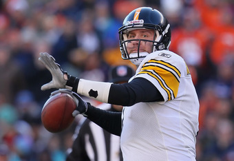 Ben Roethlisberger threw 21 touchdown passes and 14 interceptions in 2011.