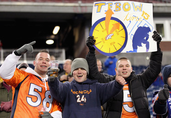 Denver Broncos fans let the nation know what time it is.