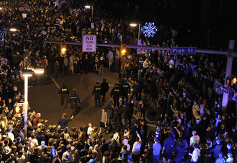 Penn State students react to the news of Coach Paterno's dismissal by the Board of Trustees.