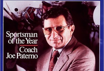 Just prior to winning his second National Championship, Coach Joe Paterno was selected Sportsman of the Year by Sports Illustrated.