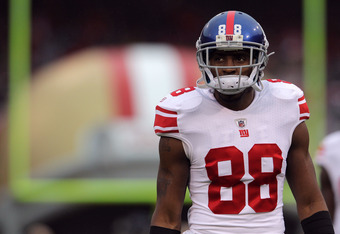 SAN FRANCISCO, CA - JANUARY 22:  Hakeem Nicks #88 of the New York Giants warms up against the San Francisco 49ers during the NFC Championship Game at Candlestick Park on January 22, 2012 in San Francisco, California.  (Photo by Doug Pensinger/Getty Images